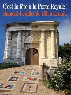 illustration de La Rochelle patrimoine : la Porte Royale en fête avec des artistes, samedi 4 juillet 2015