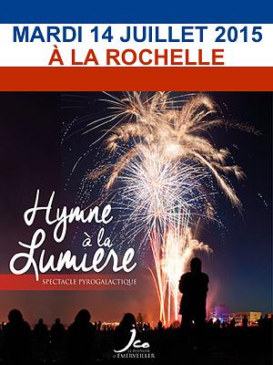 illustration de La Rochelle : hymne à la lumière, spectacle pyrogalactique pour le 14 juillet 2015 vers minuit et quelques