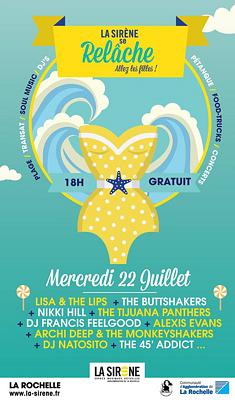 illustration de Rock'n'soul, pétanque, plage et food-truck à La Rochelle : le festival Relâche s'installe à La Sirène, mercredi 22 juillet de 18h à 3h du matin !
