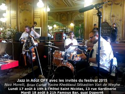 illustration de À La Rochelle Jazz in Août joue les prolongations avec deux off, lundi 17 et mardi 18 août 2015