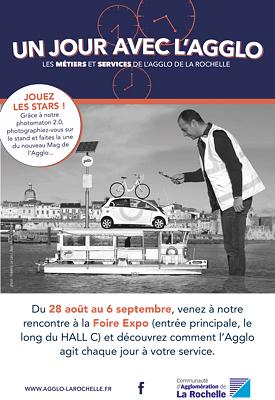 illustration de Foire exposition de La Rochelle 2015 : photos sur les métiers de l'Agglo et photomaton 2.0 jusqu'au 6 septembre