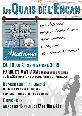 illustration de Les quais de l'Encan à La Rochelle : Farol et Matlama ouvrent leurs ateliers pendant le Grand Pavois du 16 au 21 septembre 2015