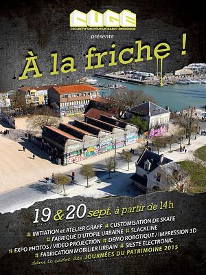 illustration de À la friche du Gabut à La Rochelle avec le C.U.G.É : arts et street culture, samedi 19 et dimanche 20 septembre 2015 ; vernissage vendredi 18