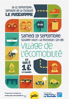 illustration de Village de l'écomobilité à La Rochelle et bus Yélo à 1 euro la journée, samedi 19 septembre 2015