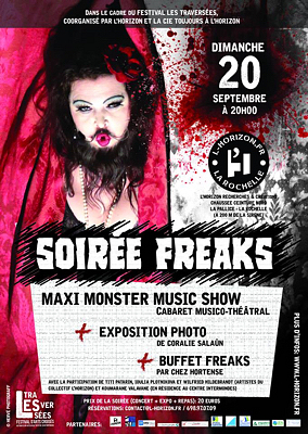 illustration de Soirée freaks à La Rochelle avec le Maxi Monster Music Show en clôture du festival Les Traversée, dimanche 20 septembre 2015