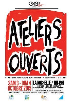 illustration de Ateliers ouverts à La Rochelle et parcours-balades le week-end des 3 et 4 octobre 2015