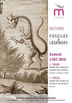 illustration de Nocturne au Muséum de La Rochelle : légendes et histoires de fossiles, samedi 3 octobre 2015
