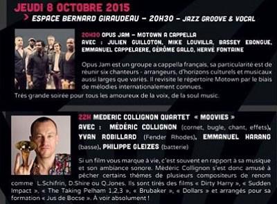 illustration de Jazz entre les 2 Tours à La Rochelle : groove et vocal à l'affiche du festival, jeudi 8 octobre 2015