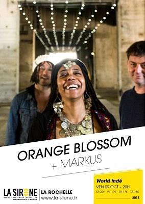 illustration de World electro à La Rochelle : la Sirène reçoit Orange Blossom et Markus, vendredi 9 octobre 2015