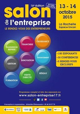 illustration de La Rochelle : conférences et ateliers au Salon de l'entreprise les 13 et 14 octobre 2015