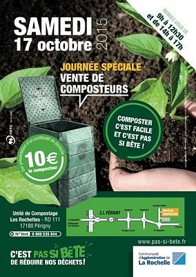 illustration de La Rochelle Agglo - réduction des déchets : vente de composteurs, journée spéciale, samedi 17 octobre 2015