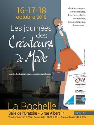 illustration de Fashion week-end à La Rochelle : Journées des créateurs de mode du vendredi 16 au dimanche 18 octobre 2015