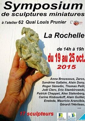 illustration de Exposition à La Rochelle : symposium de sculptures miniatures du 19 au 25 octobre 2015