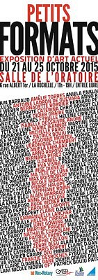 illustration de Petits formats à La Rochelle : exposition collective d'art actuel du mercredi 21 au dimanche 25 octobre 2015