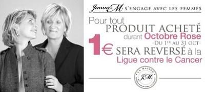 illustration de La Rochelle - France : Octobre Rose 2015, Jeanne M. cosmétiques s'engage avec les femmes dans la lutte contre le cancer