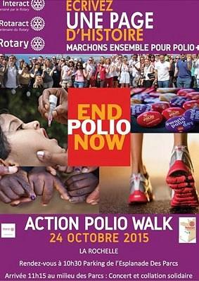 illustration de Polio Walk à La Rochelle avec les clubs Rotary et Rotaract, samedi 24 octobre 2015 à 10h30