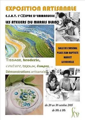 illustration de Exposition-vente à La Rochelle : créations artisanales des Ateliers du Marais Blanc jusqu'au vendredi 30 octobre 2015