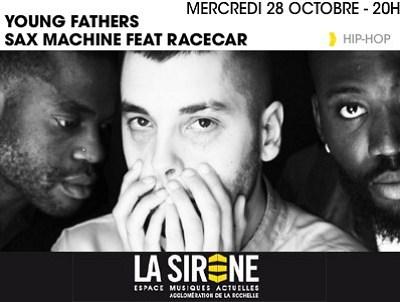 illustration de Hip-Hop à La Rochelle : Young Fathers et Sax Machine à La Sirène, mercredi 28 octobre 2015