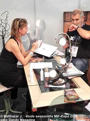 illustration de La Rochelle - Paris : étude sensorielle Balthazar J., cosmétique pour l'homme au MIF Expo 2015