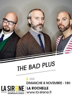 illustration de Sunday jazz rock à La Rochelle : The Bad Plus à La Sirène, dimanche 8 novembre à 18h