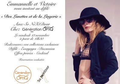 illustration de Défilé à La Rochelle : des lunettes et de la lingerie ! Soirée sur réservation, vendredi 13 novembre 2015