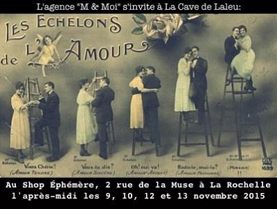 illustration de Le Shop éphémère de La Rochelle Laleu aux couleurs de l'amour avec M et Moi du 9 au 13 novembre 2015