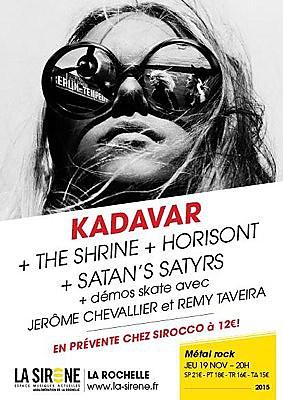 illustration de Metal, rock et skate à La Rochelle : Kadavar, The Shrine, Horisont et Satan's Satyrs, jeudi 19 novembre 2015