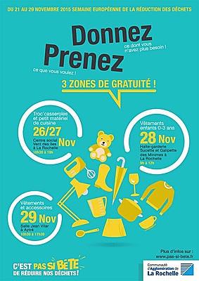 illustration de La Rochelle Agglo : réduction des déchets, zones de gratuité et ateliers, le programme du 26 au 29 novembre 2015