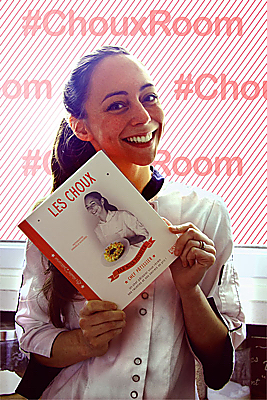 illustration de Choux-Room à La Rochelle avec Nina Métayer, chef pâtissier, librairie Calligrammes, samedi 5 décembre 2015