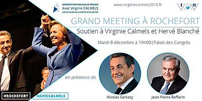 illustration de Régionales Aquitaine Limousin Poitou-Charentes : Virginie Calmels à Rochefort en Charente-Maritime, mardi 8 décembre 2015 à 19h