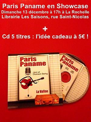 illustration de Showcase à La Rochelle : Paris Paname à la librairie Les Saisons, dimanche 13 décembre 2015