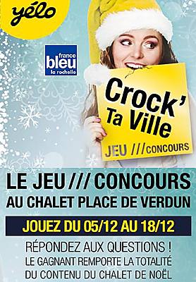 illustration de Transports Yélo - La Rochelle Agglo : jouez avec Yélo pour gagner tous les cadeaux du chalet de Noël jusqu'au 18 décembre 2015