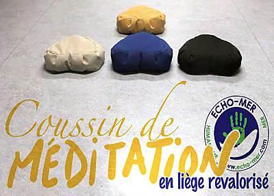 illustration de La Rochelle éco-conception : création d'un coussin de méditation en liège et tissu revalorisé