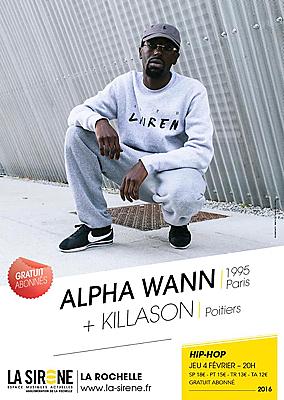 illustration de Hip-hop à La Rochelle : Alpha Wann  et Killason à La Sirène, jeudi 4 février 2016