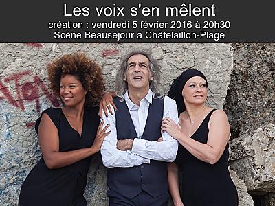 illustration de La Rochelle Agglo : les voix s'en mêlent, concert à Châtelaillon-Plage, vendredi 5 février 2016