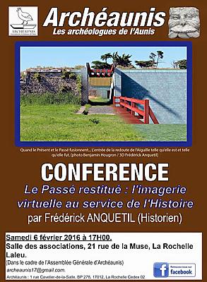 illustration de Conférence à La Rochelle avec Archéaunis : l'imagerie virtuelle au service de l'Histoire, samedi 6 février 2016 à 17h