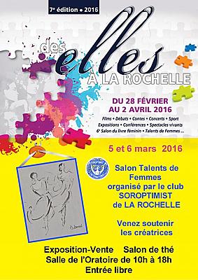 illustration de Talents de femmes : salon artistique & exposition-vente à La Rochelle, samedi 5 et dimanche 6 mars 2016