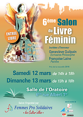 illustration de Littérature à La Rochelle : 6e Salon du livre féminin, samedi 12 et dimanche 13 mars 2016