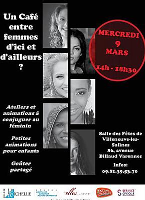 illustration de Des Elles à La Rochelle : café entre femmes d'ici et d'ailleurs, mercredi 9 mars 2016 de 14h à 18h30