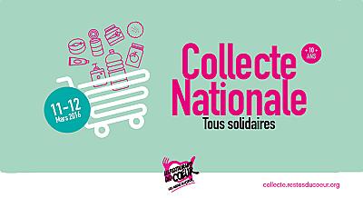 illustration de Solidarité La Rochelle - Charente-Maritime : participez à la collecte nationale des Restos du coeur 11-13 mars 2016