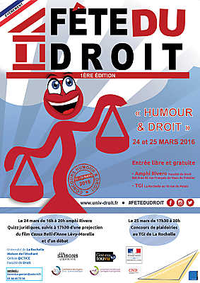 illustration de Humour et droit à La Rochelle : quizz, film et concours de plaidoiries, jeudi 24 et vendredi 25 mars 2016