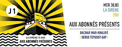 illustration de À La Rochelle, Bachar Mar-Khalifé ouvre les 5 journées des 5 ans de La Sirène, mercredi 30 mars 2016 !