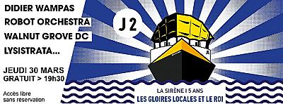 illustration de La Rochelle fête les 5 ans de La Sirène, jour 2 : Didier Wampas, Robot Orchestra et plus, jeudi 31 mars 2016