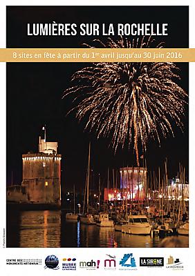illustration de Lumières sur La Rochelle : thématique partagée pour la belle saison 2016 et temps forts le weekend des 1er, 2 et 3 avril 2016