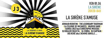illustration de La Sirène de La Rochelle : anniversaire jour J avec The Legendary Tigerman et de nombreux artistes ! Vendredi 1er avril 2016