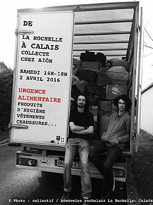 illustration de De La Rochelle à Calais : collecte chez Aiôn, samedi 2 avril 2016 de 14h à 18h