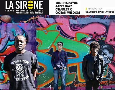 illustration de Évènement hip-hop et rap à La Rochelle : The Pharcyde ; Jazzy Bazz ; Charles X à La Sirène, samedi 9 mars 2016