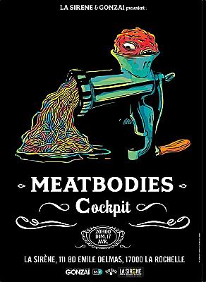 illustration de Rock à La Rochelle avec Gonzaï et La Sirène : Meatbodies  et  Cockpit, concert du dimanche le 17 avril 2016 à 20h