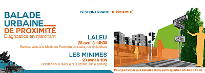 illustration de GUP à La Rochelle : balades dans les quartiers et démarche de gestion urbaine de proximité, 26 et 28 avril 2016