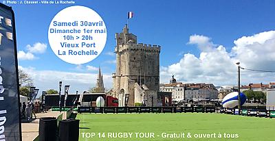 illustration de La Rochelle : 2e journée du Top 14 Rugby Tour au Gabut, dimanche 1er mai 2016